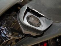 Getriebelager (härtere Version) eingebaut, chassisseitig