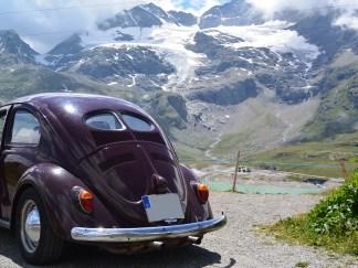 Am Berninapass, Blick auf den Morteratschgletscher