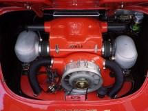 Motorraum Porsche 356 C mit KLAUS Typ 4 Motor