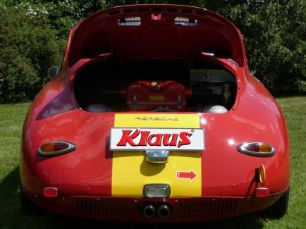 Porsche 356 C Outlaw mit KLAUS Typ 4 Motor Heckansicht