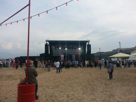 Open Air concert auf der Opening Party...