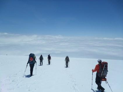 Descent into Clouds below Muir Snow Field - Where Does Heaven Start 2