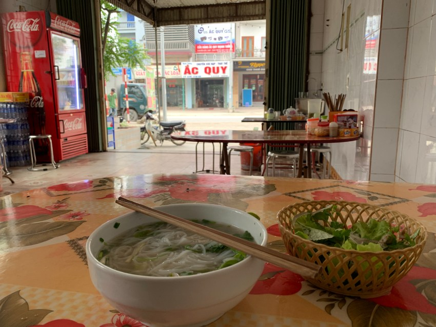 Pho Bo, readily available and my usual meal for lunch