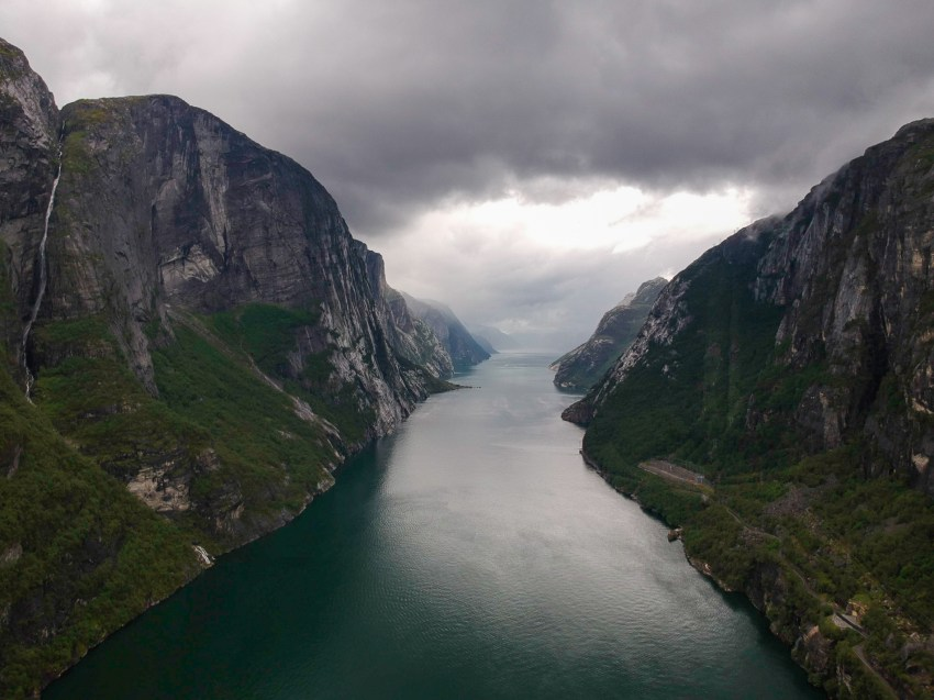 The rainy and overcast weather conditions made the Lysefjord look even more dramatic