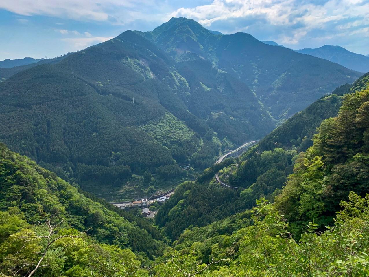 Heading into the mountainous central region of Shikoku