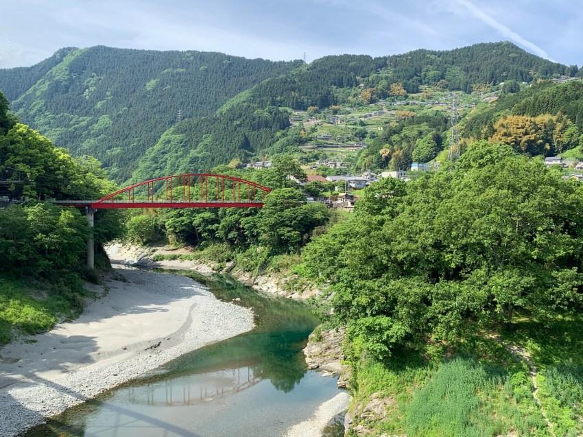 Crossing Iyaguchi Bridge, entering Iya Valley