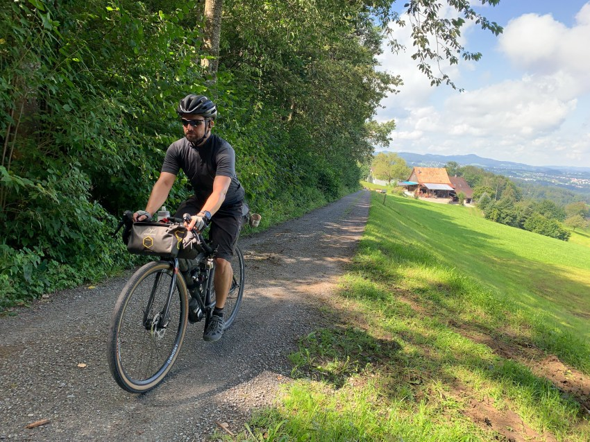 First climb up towards Rorschacherberg after departing from Lake Constance