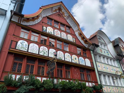 Facade of a building housing a drugstore in Appenzell
