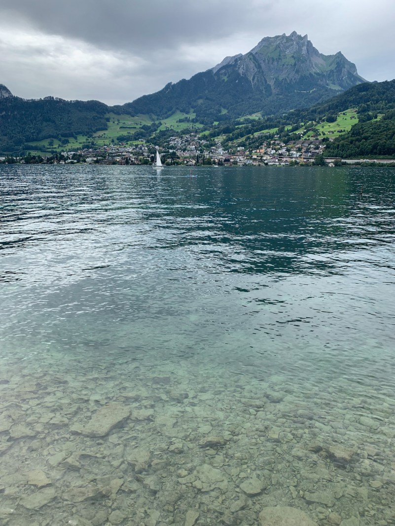 The clear waters of Lake Lucerne
