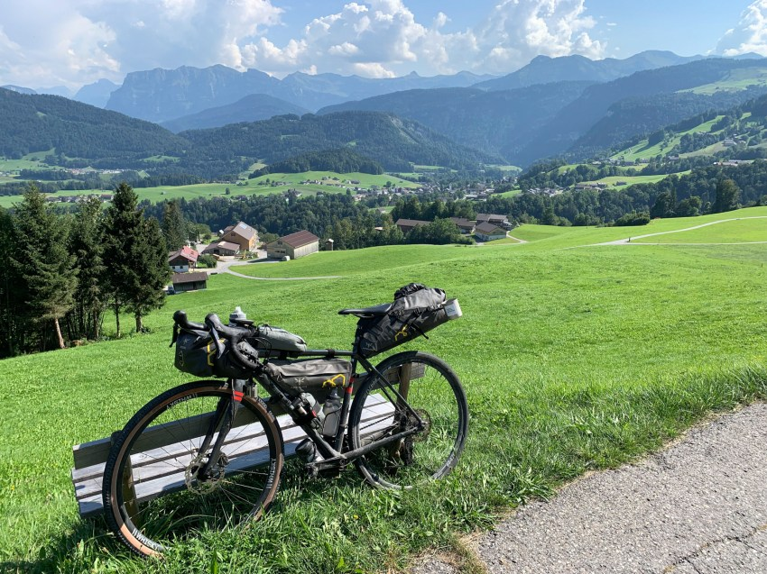 Descent into the Bregenz Forest and the town of Schwarzenberg