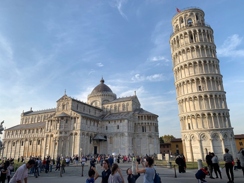 A visit to the Piazza dei Miracoli with the Pisa Cathedral and the Leaning Tower.