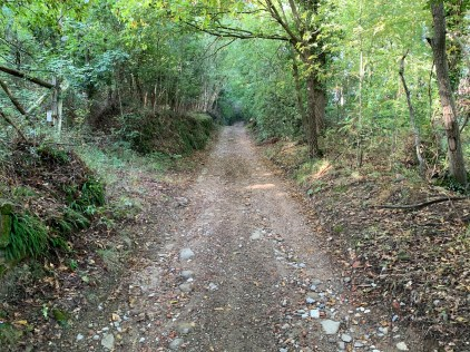 The route out of Florence included some of the roughest and steepest trails of the whole trip