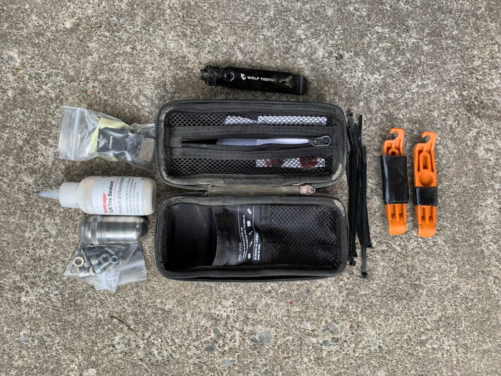Content of Zip Tool Case, opened up