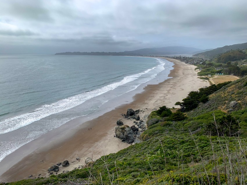 Stinson Beach, at the bottom of the descent down Panoramic Hwy