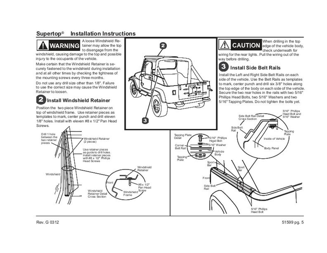 Verdeck Jeep Cj7 Wrangler Yj 76 95 Bestop 15