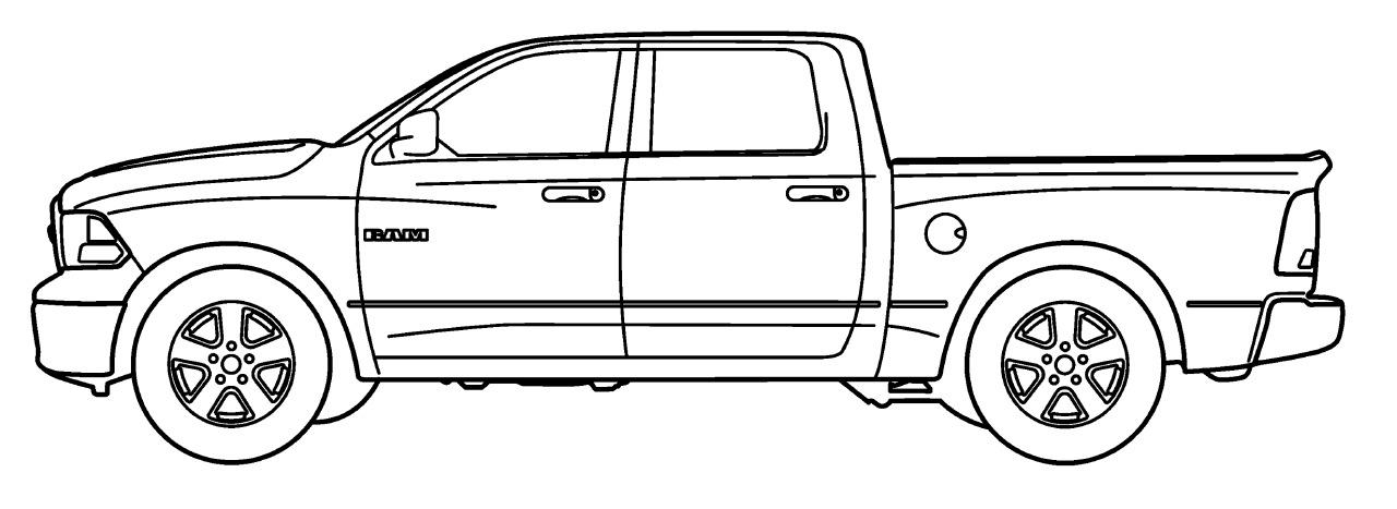Trittbretter 75mm Dodge Ram 1500 Crew Cab + TÜV (09
