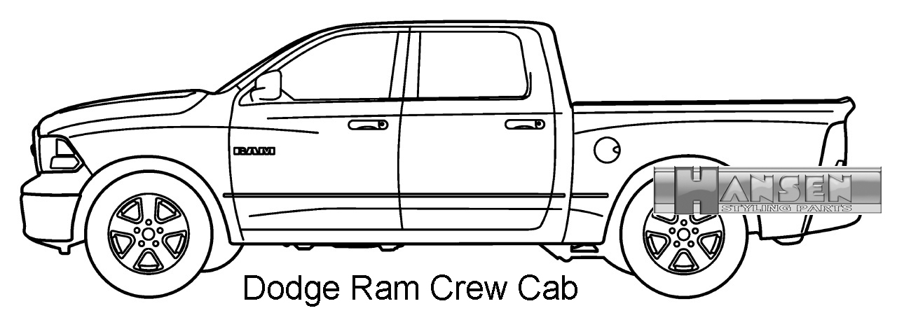 Schwellerrohre 75mm Dodge Ram 2500 3500 Club Cab (94-02