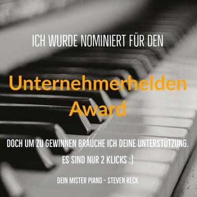 """Das ist mega wichtig für mich. Ich wurde nominiert für den """"Unternehmerhelden Award 2018"""" Du kannst mir ganz einfach helfen. Folge dem Link in den Kommentaren, scrolle runter und klicke auf """"Steven Reck"""" Das wars schon. Vielen Dank im voraus :) . . . . . #handwerk #pianoservice #pianotuner #klavierwerkstatt #klavierstimmer #werkstatt #pianotech #klavier #klavierbau #klavierbauer #handwerk #pianoservice #pianotech#misterpiano #new #piano #pianolover #pianoservicenordwest #piandoo#steinway#bechstein#klavierbauer"""