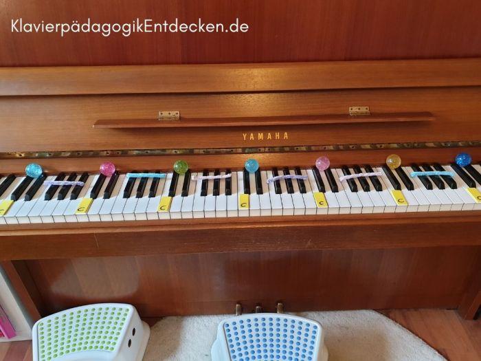Anfängerunterricht am Klavier, Tastatur Orientierung