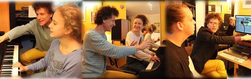 Unterrichtsfotos mit Klavierschülern der Klavierstunde, Klavierunterricht in München-Schwabing