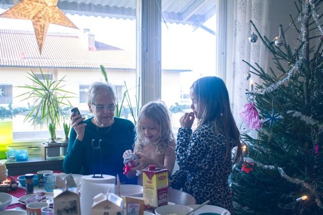 Spända inför julafton