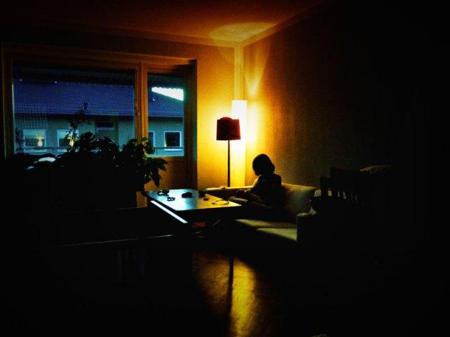 Första kvällen på örsholmsgången, med mys och en tyst ljudbild