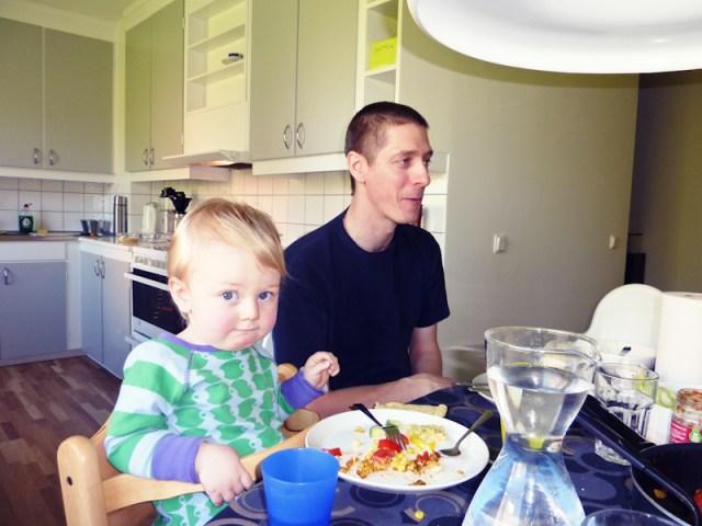 Taco och äppelpajs dag hemma hos Alva och Tage