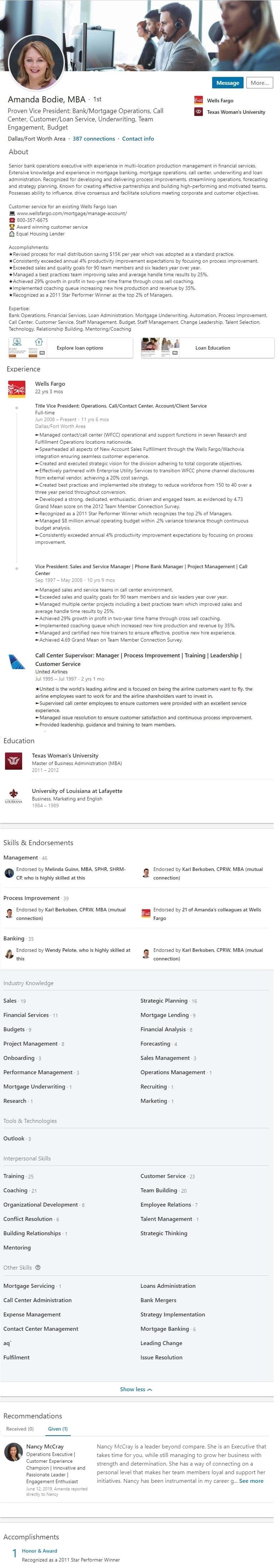 resume service linkedin profile