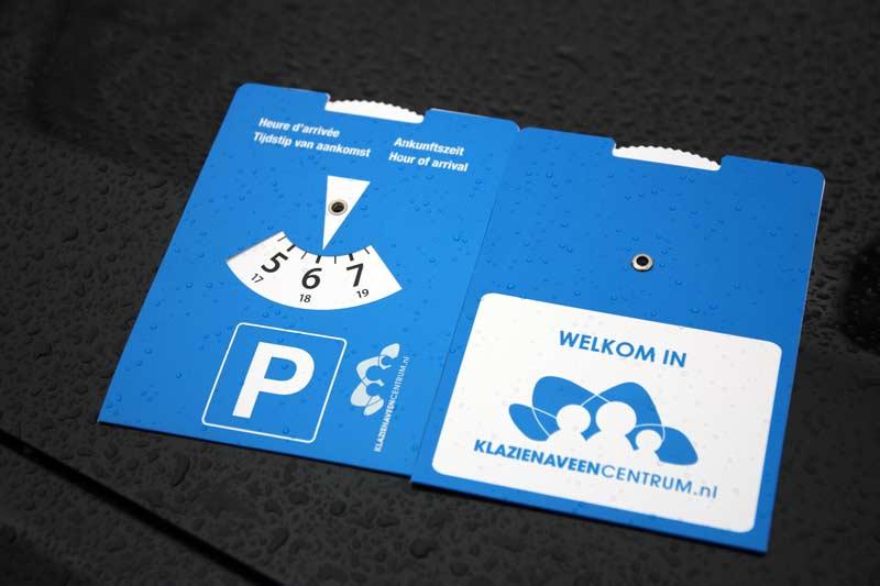 parkeerschijf, blauwe zone