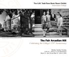 The Fair Arcadian Hill exhibit poster