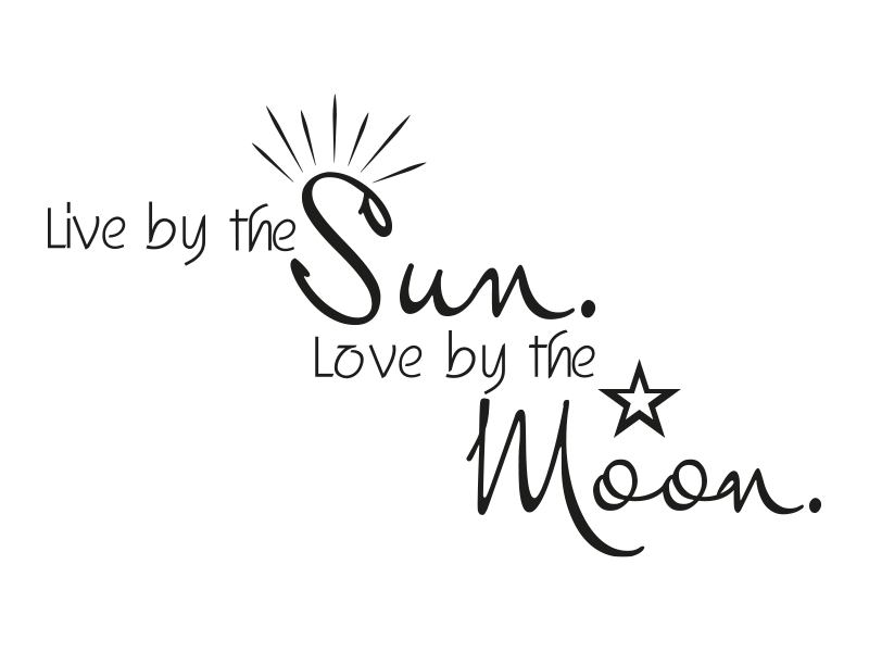 Download Wandtattoo Live by the sun Love by the moon - Klebeheld.de