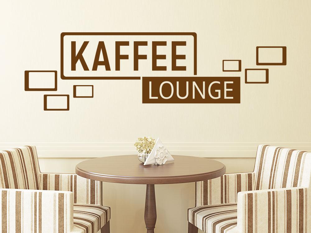 Wandtattoo Kaffee Lounge Retro Cubes Von KLEBEHELD®.DE