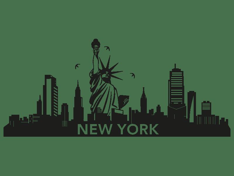 Wandtattoo Skyline New York  Klebeheldde