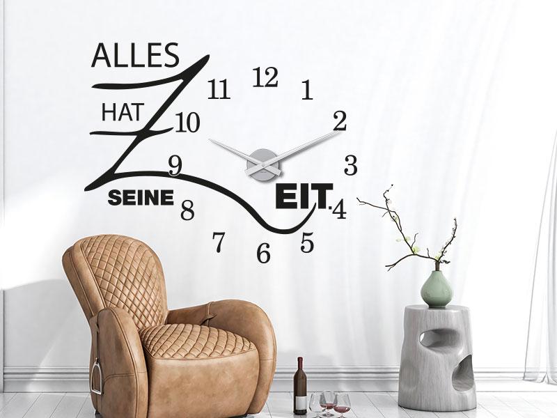 Wandtattoo Uhren  Die kreative DesignWanduhr  KLEBEHELD
