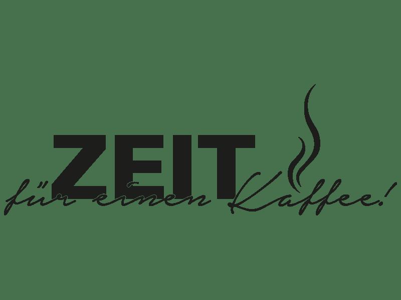 Wandtattoo Zeit Für Einen Kaffee  Klebeheld® Wandtattoos