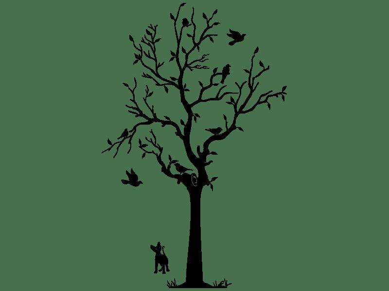 Wandtattoo Lebhafter Baum - Klebeheld