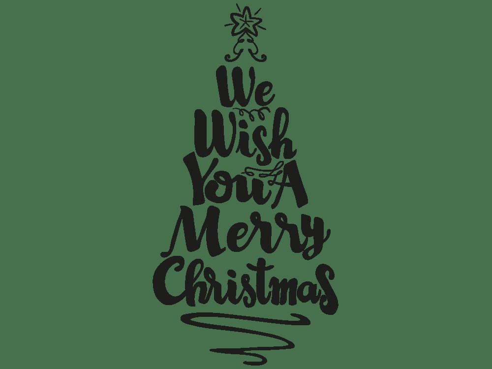 Wandtattoo Weihnachtsbaum Merry Christmas Von KLEBEHELDDE