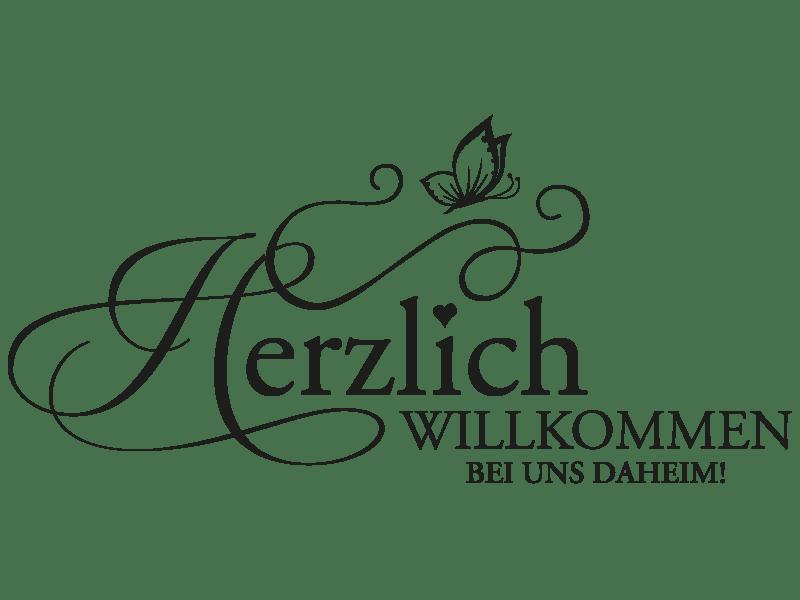 Wandtattoo Herzlich Willkommen Daheim Von Klebeheld®de