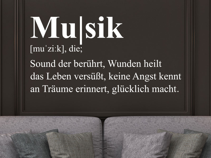 Wandtattoo Musik Definition von KLEBEHELDde