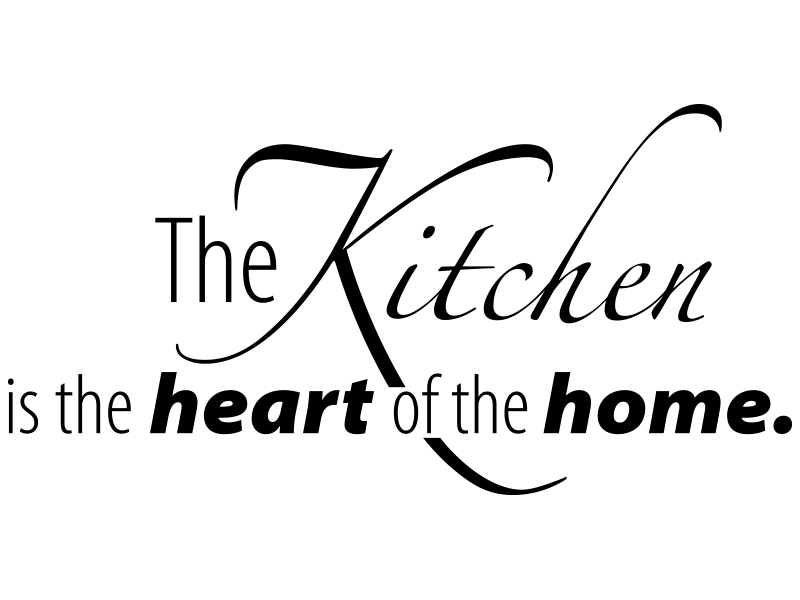 Wandtattoo The Kitchen ist the heart of the home