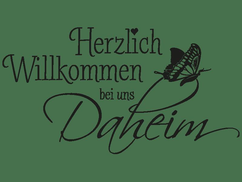 Wandtattoo Herzlich Willkommen Bei Uns Daheim Klebeheld®
