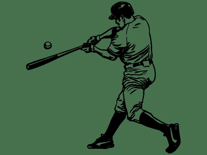 Wandtattoos fr Jugendliche  Baseballspieler Wandtattoo
