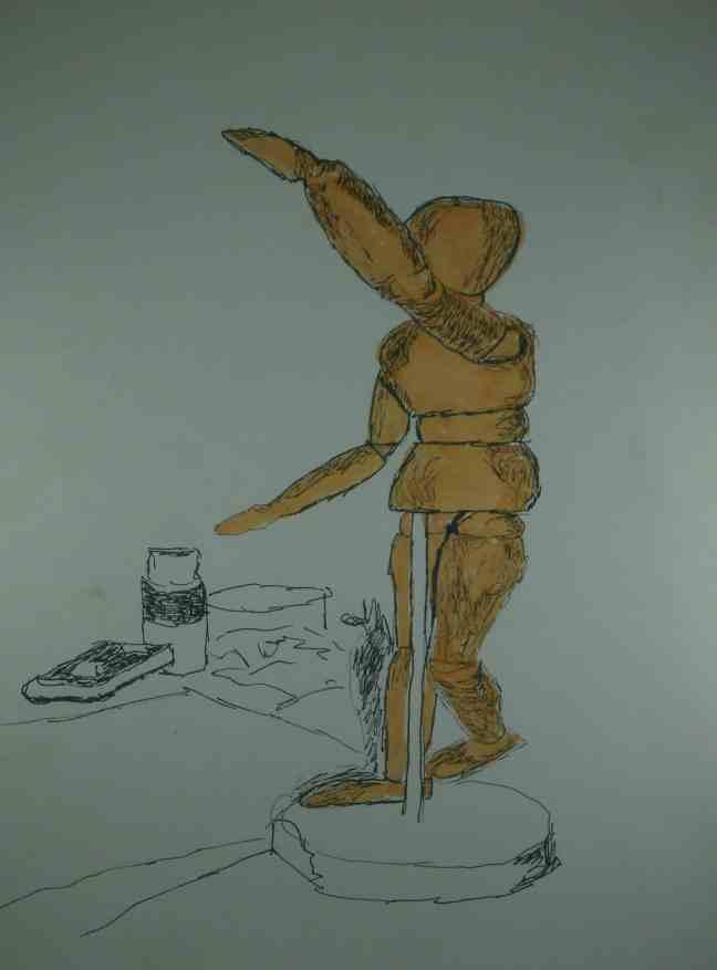 Ilustration-. Patrieske lässt die Puppentanzen