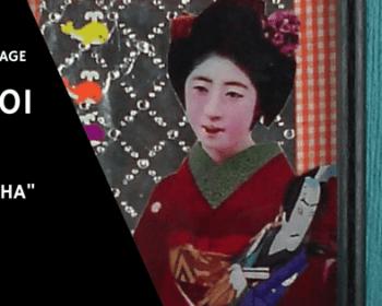 "Collage Kunst ""Geisha"""