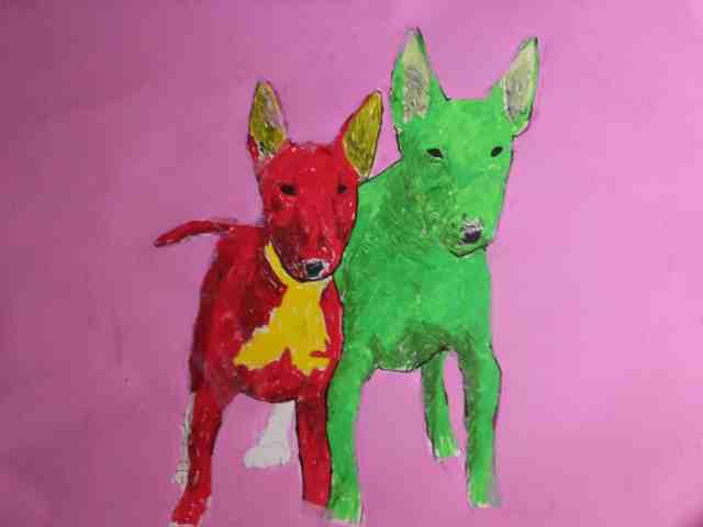 pop art bull terrier