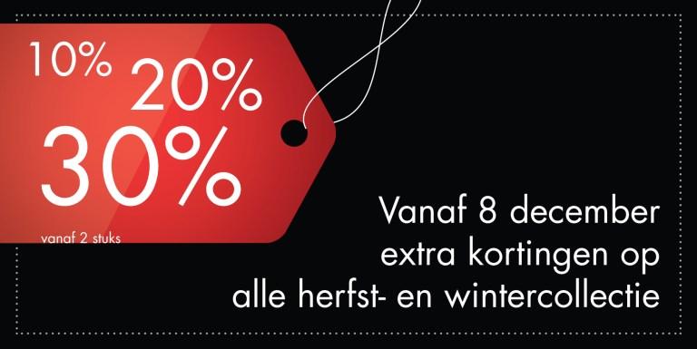 Tot 30% korting vanaf 8 december