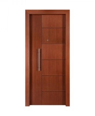 Θωρακισμενή πόρτα ασφαλείας καστανή