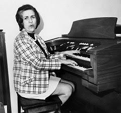 Jane at the Thomas Organ
