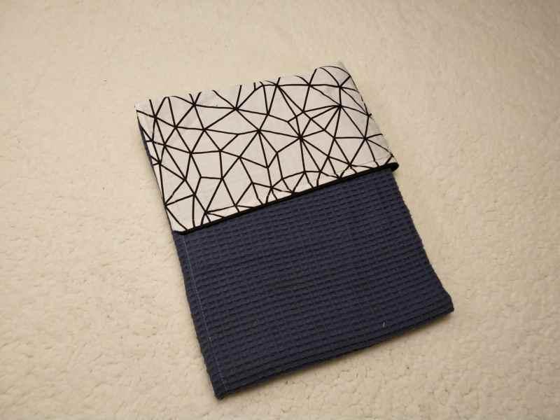 wafel jeansblauw wieg deken