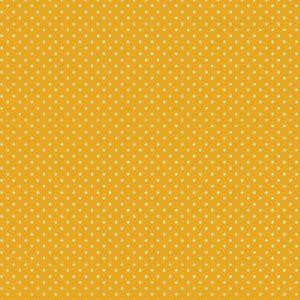 katoen geel wit stipje